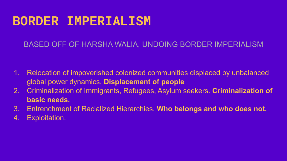 Border Imperialism in Our Everyday Lives workshop screen shot